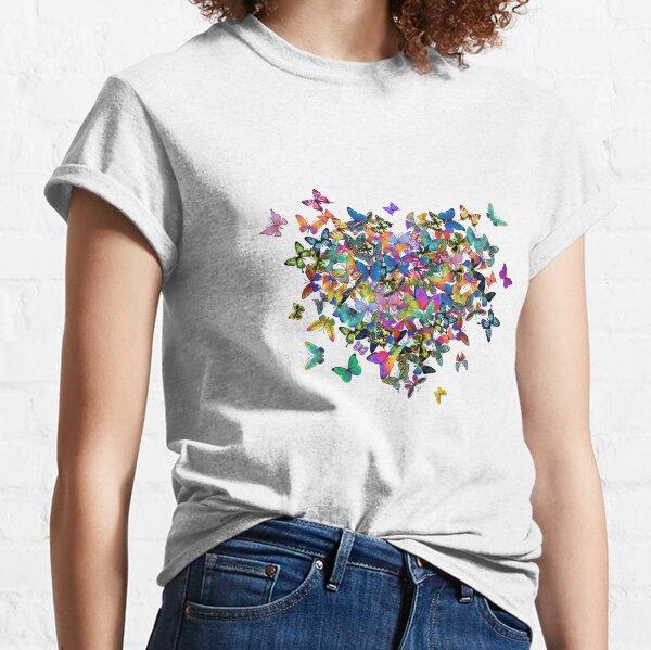 Colorful Butterflies Heart Classic T-Shirt
