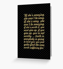 "If she's amazing... ""Bob Marley"" Inspirational Quote Greeting Card"