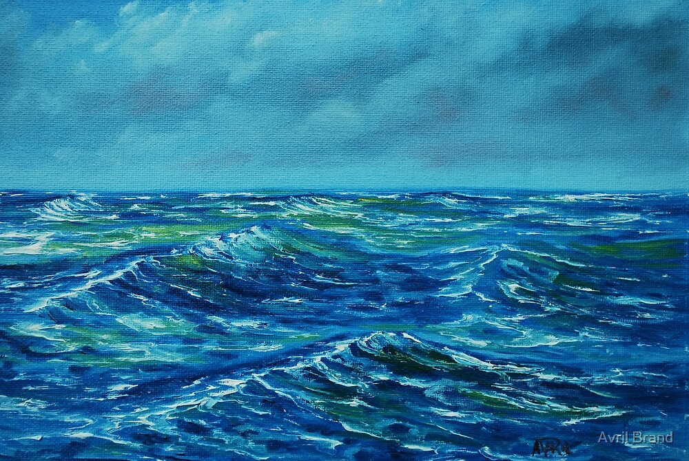 Rough Seas - oil painting by Avril Brand