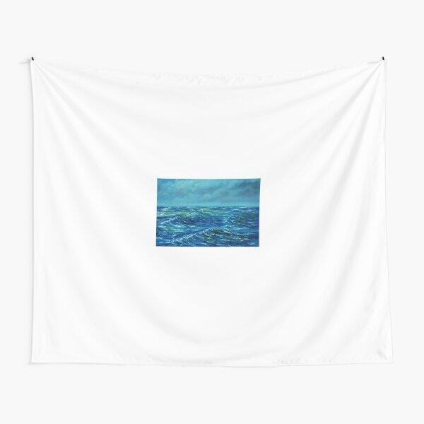Rough Seas - oil painting Tapestry
