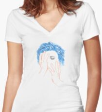 """""""Hero"""" Women's Fitted V-Neck T-Shirt"""