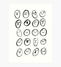 Faces Art Print
