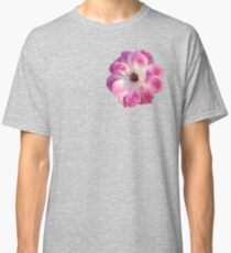 Pink and White Rose Classic T-Shirt