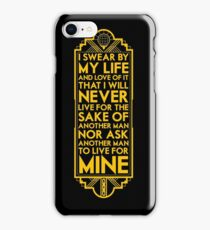 Galts Oath iPhone Case/Skin