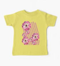 Pink and White Rose Baby Tee