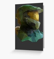 Low Poly Master Chief Greeting Card