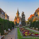 Romania. Timișoara. Victory Square. Cathedral in the Morning. by vadim19
