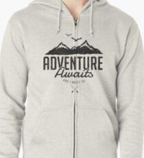 ADVENTURE AWAITS Zipped Hoodie