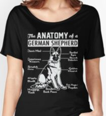 The Anatomy Of A German Shepherd Shirt Women's Relaxed Fit T-Shirt