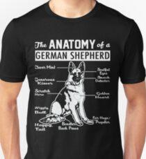 The Anatomy Of A German Shepherd Shirt Unisex T-Shirt