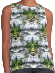 White Clematis Flowers Abstract Contrast Tank