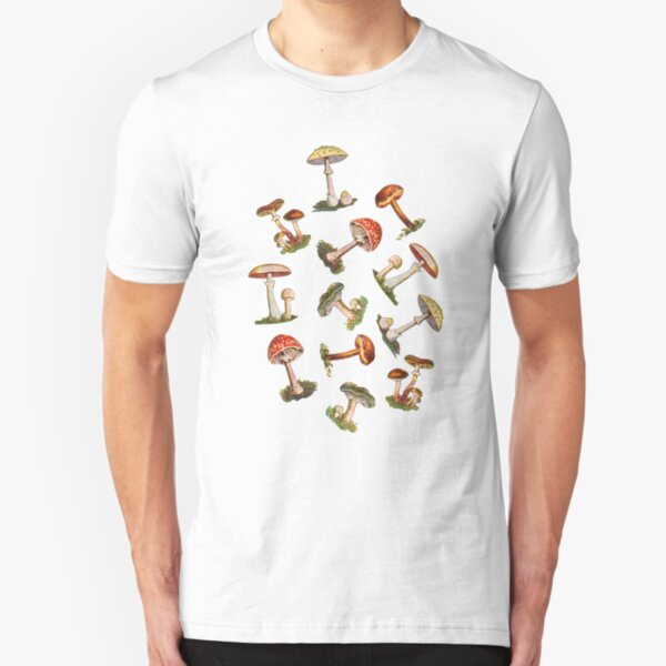 Mushrooms Slim Fit T-Shirt