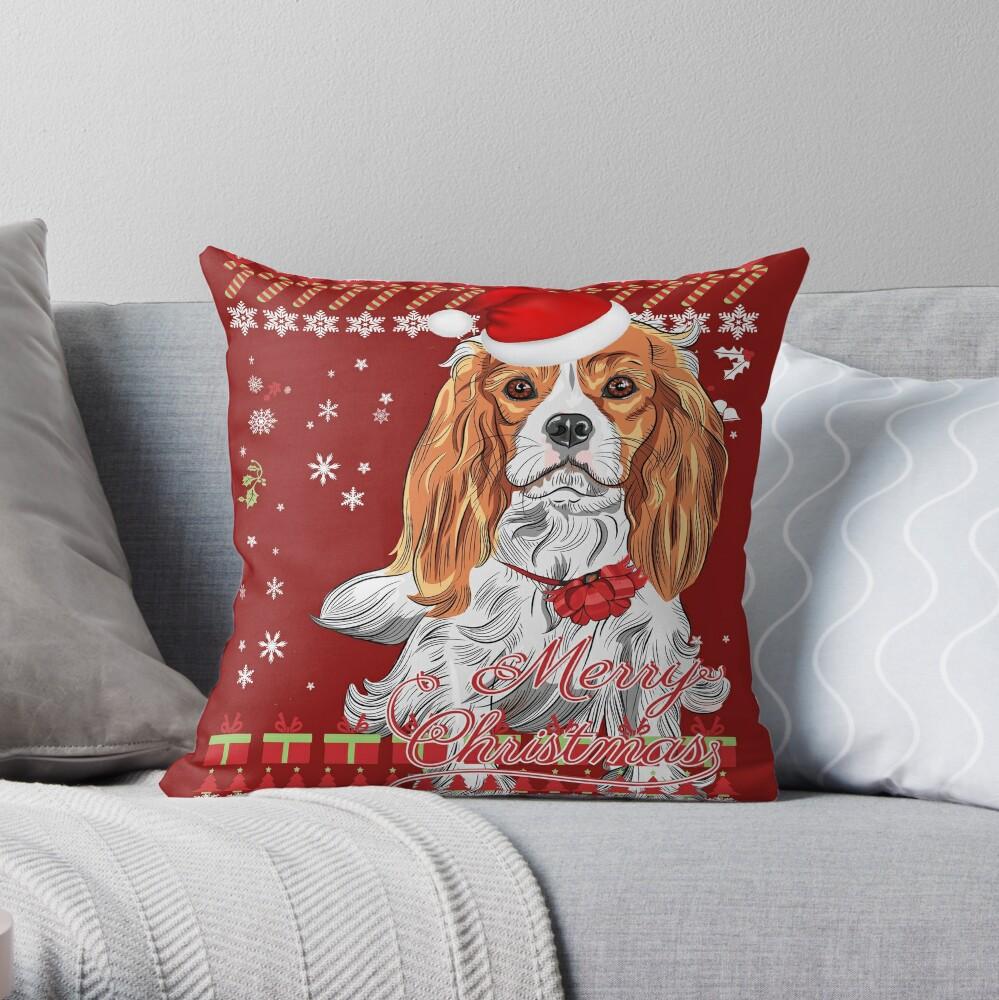 Cavalier King Charles Spaniel Ugly Christmas Sweater Shirt | Throw Pillow