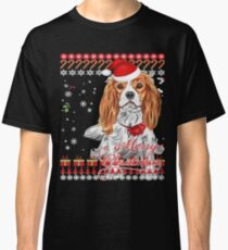 Cavalier King Charles Spaniel Ugly Christmas Sweater Shirt Classic T-Shirt