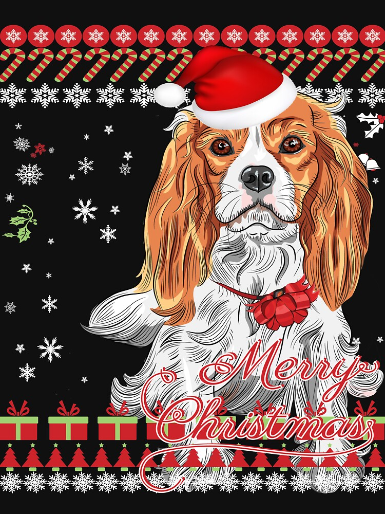 Cavalier King Charles Spaniel Ugly Christmas Sweater Shirt by lucymeme