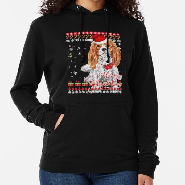 Cavalier King Charles Spaniel Ugly Christmas Sweater Shirt Lightweight Hoodie