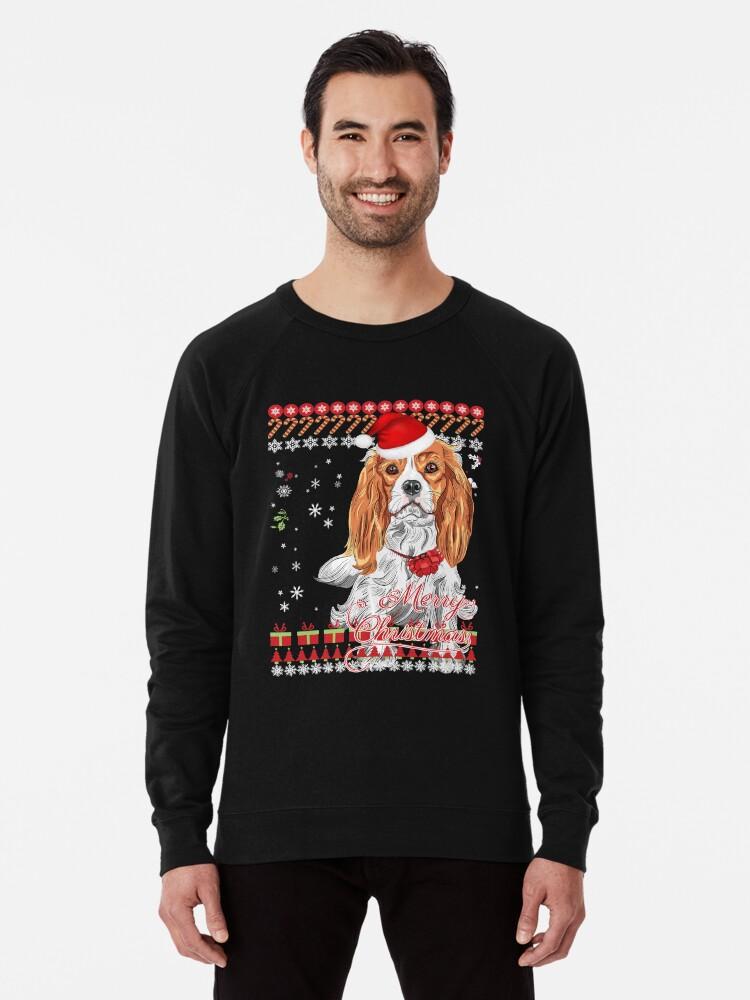 Cavalier King Charles Spaniel Ugly Christmas Sweater Shirt | Lightweight Sweatshirt