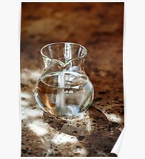 Transparent Jug with Two Liters of Fresh Pure Drinking Water Poster