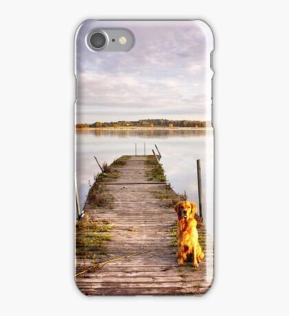 Jetty with a view iPhone Case/Skin