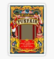 Circus Carnival Invite Poster Sticker