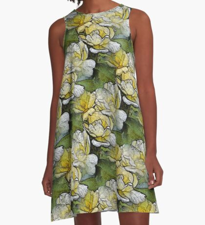 Rose Flowers Nature Art A-Line Dress