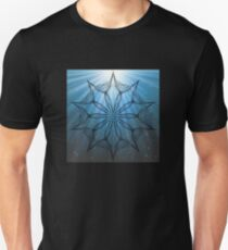 Kaleidoscope with blue water rays T-Shirt