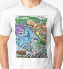 Los Angeles Map Illustration Unisex T-Shirt
