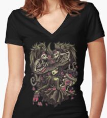 Witching Hour Women's Fitted V-Neck T-Shirt