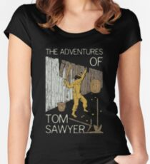 Books Collection: Tom Sawyer Women's Fitted Scoop T-Shirt