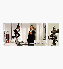 "American Psycho - Jason Bateman tells Sabrina to ""eat it"" Photographic Print"