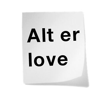 Alt er love by emmadk