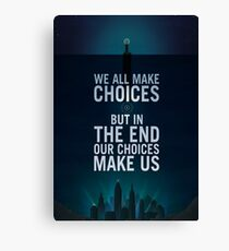 Bioshock - Rapture Poster - We all make choise but in the end our choices make us Canvas Print