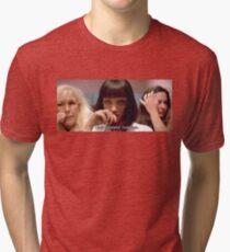 "Pulp Fiction Mia Wallace - I said goddamn"" Tri-blend T-Shirt"