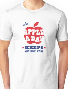 An Apple a Day Keeps Windows Away Unisex T-Shirt