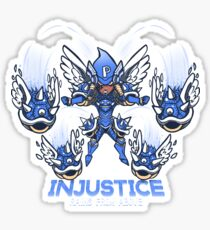 Injustice rains from above Sticker