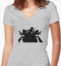 Charlie's angels logo black Women's Fitted V-Neck T-Shirt
