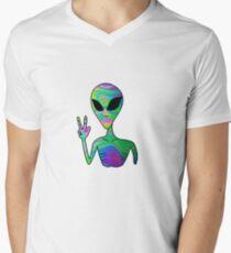 Trippy Alien 7 Men's V-Neck T-Shirt