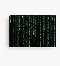 matrix code Canvas Print