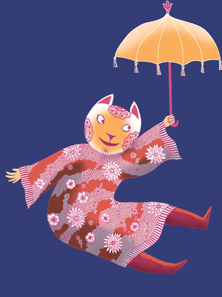 Magic Cat with Parasol by SusanSanford
