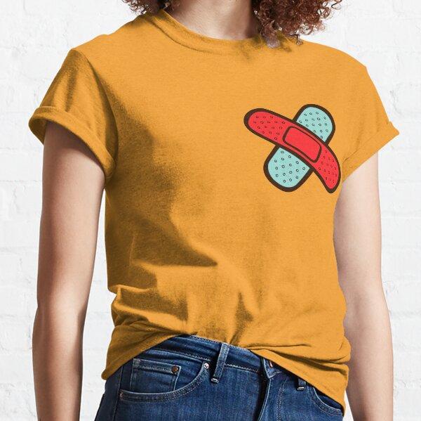 Rainbow Band-Aids Pattern Classic T-Shirt