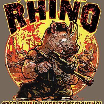 Protect The Rhino Ban Rhinocerous Horn Trade by MudgeStudios