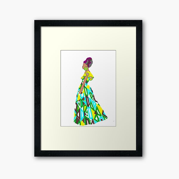 Dazzle in a dress-Nocha Framed Art Print