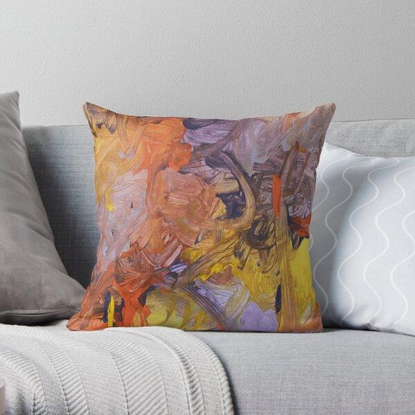 Purple Sunrise Throw Pillow