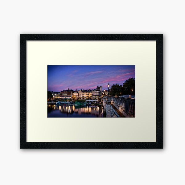 Richmond By The River, London Framed Art Print