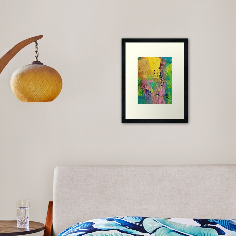 Splashes of Colour Framed Art Print