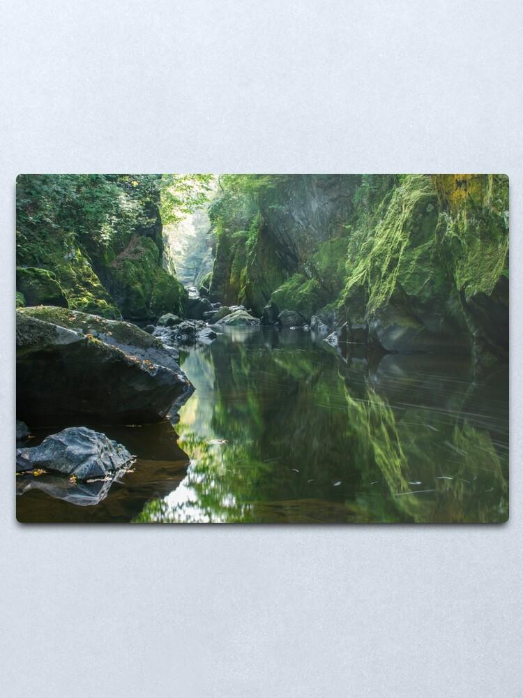 Alternate view of Wales - The Fairy Glen ,  Betws-y-Coed Metal Print