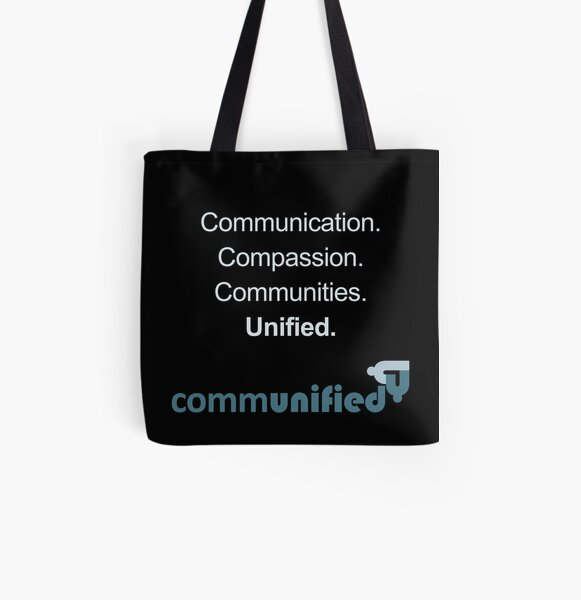 Communication. Compassion. Communities. Unified. All Over Print Tote Bag