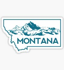 Montana Mountains Sticker