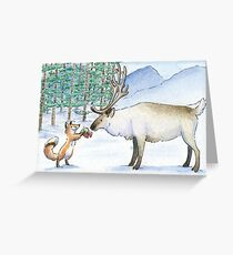 Gift for a Reindeer Greeting Card