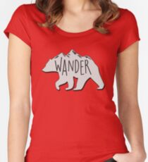 Wander Bear Mountain Women's Fitted Scoop T-Shirt